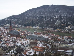 Heidelberg Castle View Old Town 01
