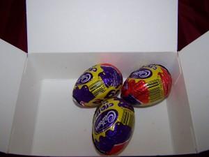 Eggs half full